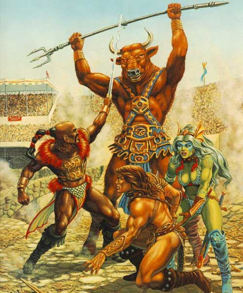 warriors fight minotaur