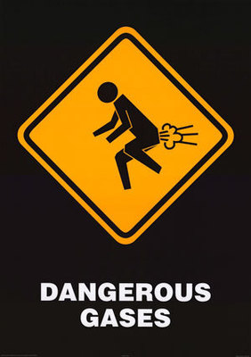 dangerous gases warning sign