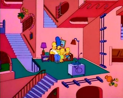 the simpsons illusion house