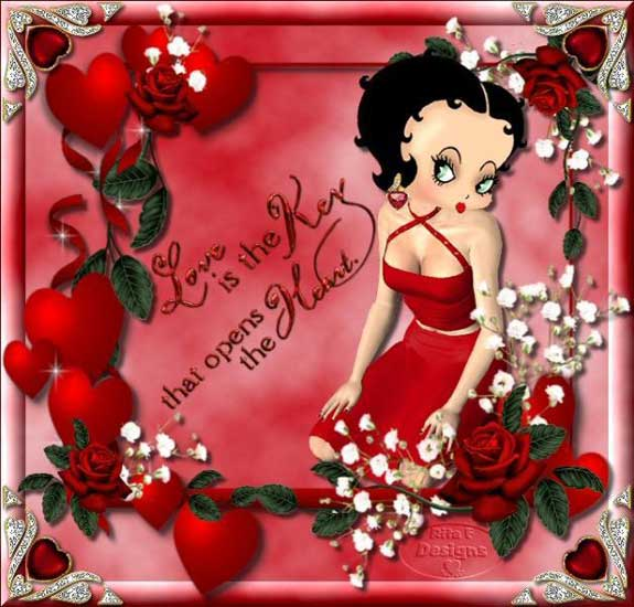 love is the key that opens the heart betty boop