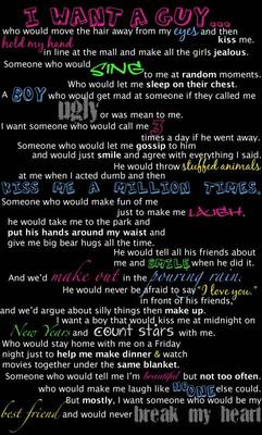 i want a guy quotes