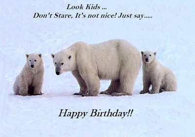 happy birthday polar bear