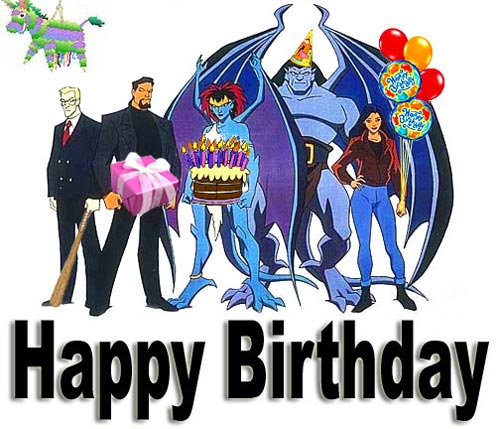 happy birthday gargoyles