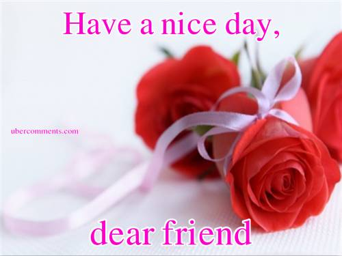 Joan gif hve great day friend my friend  gife hello dear