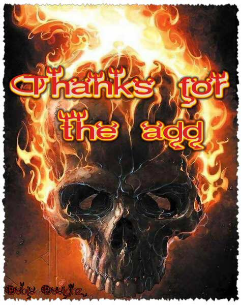 thanks for the add flaming skull ghost rider
