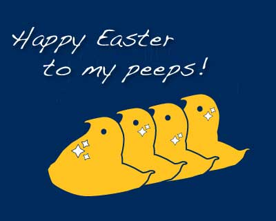 happy easter to my peeps