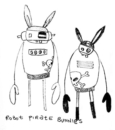 robot pirate bunnies