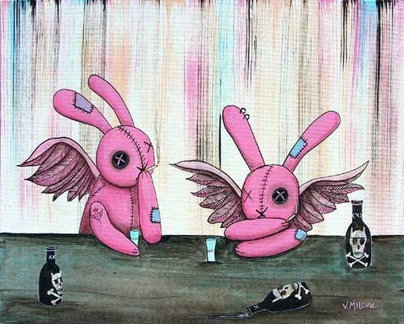 drunk easter bunny angels