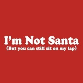 im not santa but you can still sit on my lap