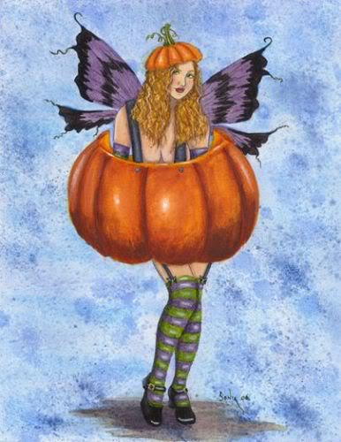 halloween pumpkin fairy