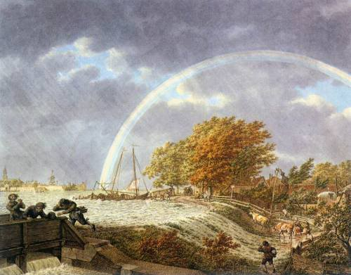 autumn landscape rainbow