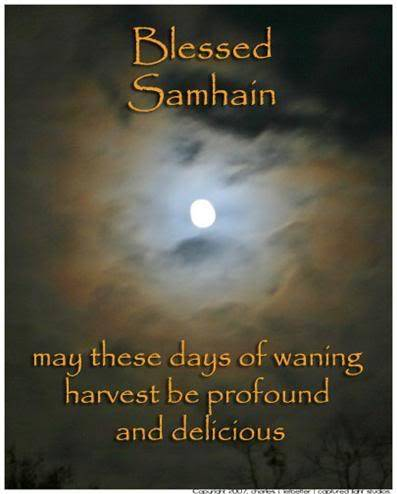 Blessed Samhain may these days of waning harvest be profound and delicious