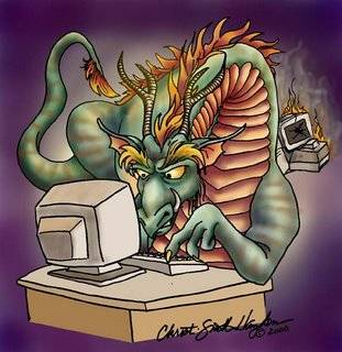 dragon on computer