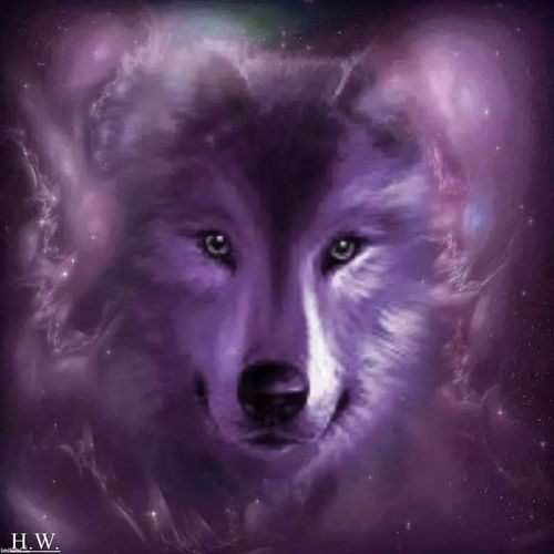 White Wolf With Purple Eyes Utherverse® So...