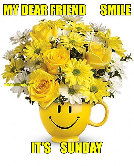 MY DEAR FRIEND      SMILE IT'S    SUNDAY