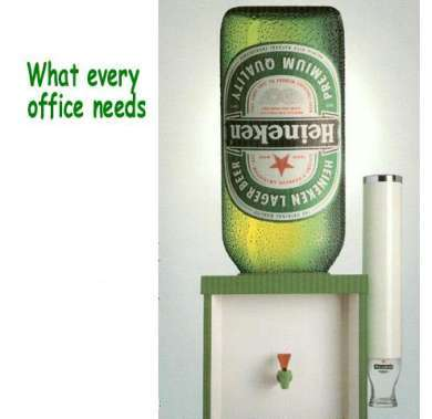 what ever office needs heineken