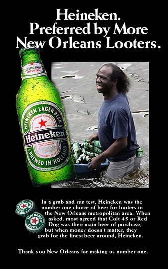 heineken preferred by more new orleans looters