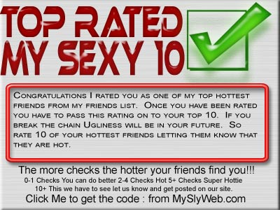 top rated my sexy 10