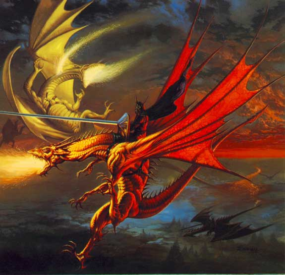 dragon fighting