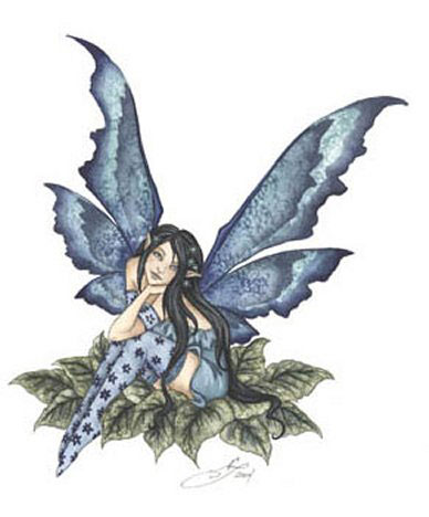 cute blue fairy