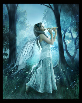 fairy playing flute