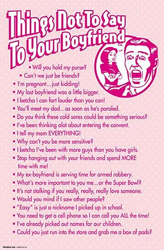 things not to say to your boyfriend