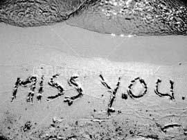 miss you in sand