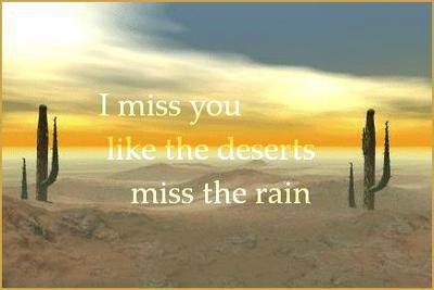 i miss you like the deserts miss the rain