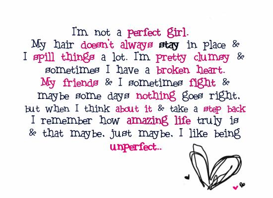 perfect girl quote