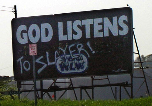 God listens to SLAYER!