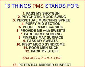 13 things pms stand for