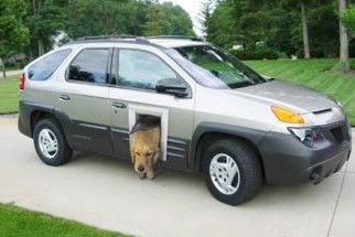 doggie door on van