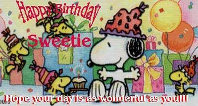 happy birthday snoopy woodstock