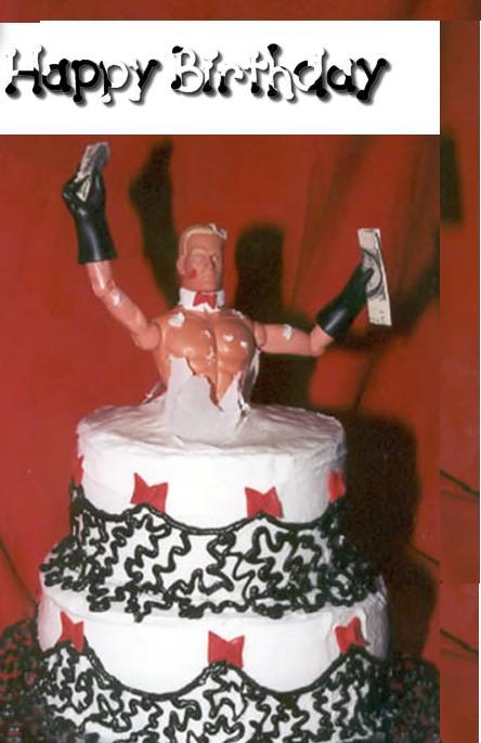 happy birthday ken doll in cake