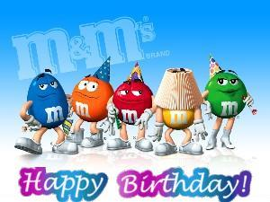 m&m's happy birthday