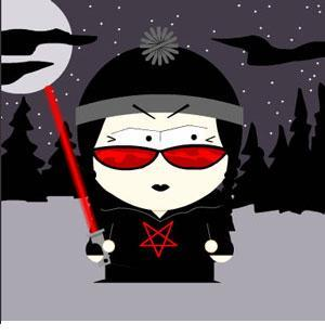 emo south park dark pentagram light saber