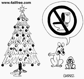 don't pee on the christmas tree
