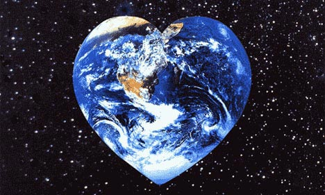 heart shaped earth