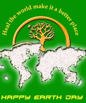 heal the world make it a btter place happy earth day