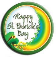 happy st patricks day button