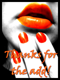thanks for the add orange lips