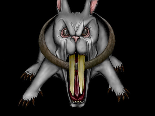 scary easter bunny