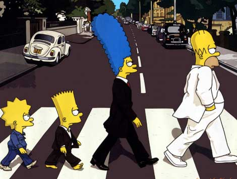 the simpsons on abbey road