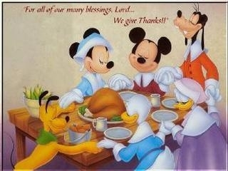 happy thanksgiving mickey mouse