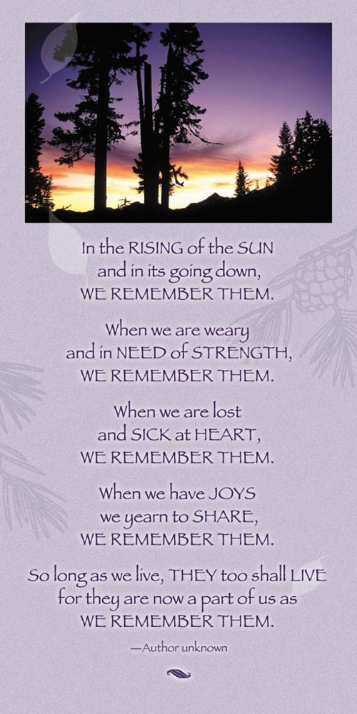 we remember them poem