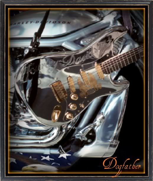 Harley Davidson Guitar Bikers Graphics For Facebook