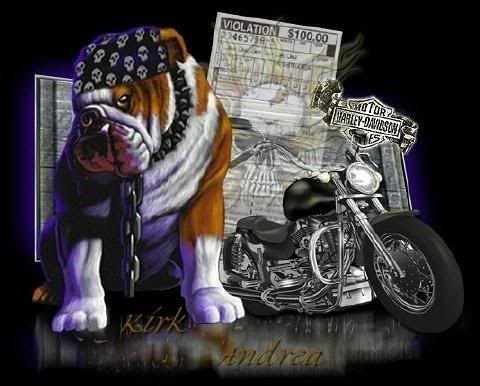 Dog And Motorcycle Bikers Graphics For Facebook Tagged