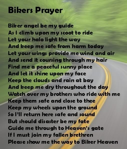 bikers prayer