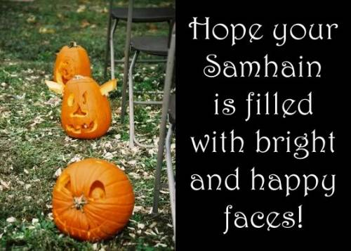 Hope your Samhain is filled with bright and happy faces!