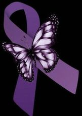 Overdose Awareness Ribbon with Butterfly